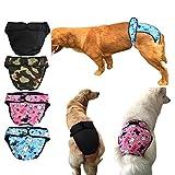 Läufig Pant,Hygieneunterhose,Haustier weibliche Hund Goldene Satsuma Sanitär Windel Physiologische Unterwäche Bunt Mehrfarbig L&XL - 8