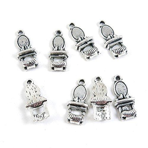 Antieke Zilveren Toon Sieraden Bedels L8ZZ0Z Dressoir Ambachtelijke Kunst maken Crafting Kralen Antiek Zilver