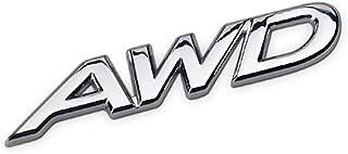 Dsycar Car AWD Logo Metal Emblem Sticker Badge Decal for 4 Wheel Drive SUV Off Road Tailgate (#2)