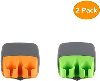 CocoKool 2 PCS Vegetable Peeler, Durable Palm Peeler, Sharp Blade Finger Potato Peeler with Comfortable Rubber Finger Grip, Palm Peeler Vegetable Peeler for Pumpkin, Carrot, Cucumber, Potato and More