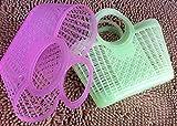 Alarmclocker8B 2020 Almacenamiento de Cesta de Compras de Verduras de supermercado de plástico Blando Tinte Carro portátil 10 Piezas/Paquete