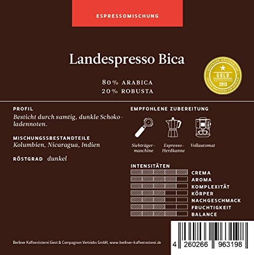BKR   Espresso   Landespresso Bica   Mischung 1000g Bohne