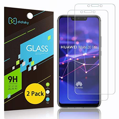 Didisky Pellicola Protettiva in Vetro Temperato per Huawei Mate 20 Lite, [2 Pezzi] Protezione Schermo [Tocco Morbido ] [Facile da Pulire] [Facile da installare] Trasparente