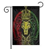 Afrikanische Flagge Der Löwe von Juda Rasta Rastafari Garten Fahnen Kleine Yard Fahnen Langlebig Wetterbeständige Flagge Doppelt Genähte Dekorative Flagge für Zuhause Indoor Outdoor...