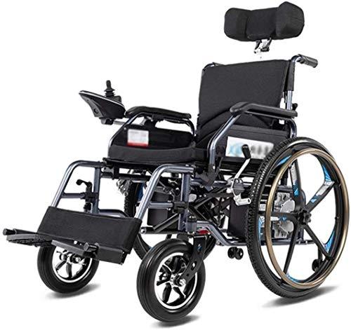 Sedia a Rotelle Pieghevole, Sedia a rotelle elettrica sedia a rotelle elettrico pieghevole, elettrico pieghevole Piccolo mobile Assisted sedia a rotelle, potente a due motori for sedia a rotelle, pieg