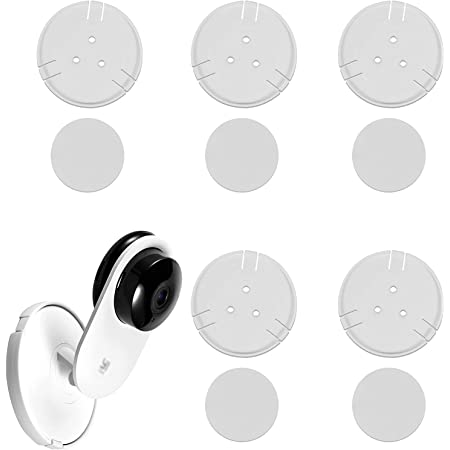 imluckies [5 Pack] Yi Home Camera Mount Accessories, Yi Security Camera Wall Mount for YI 1080p/720p Home Camera (NOT INCLUDED CAMERA)