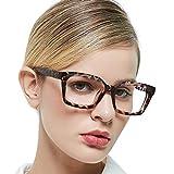 MARE AZZURO Computer Reading Glasses Women Stylish Digital Screen Readers 0 100 150 200 250 300 350 400 500 600 (Demi, 1.0)