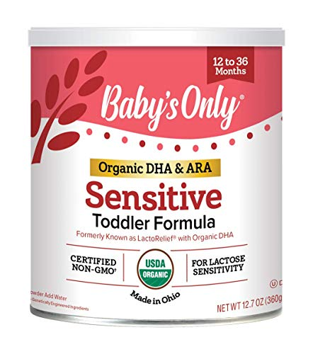 Baby's Only Organic Baby's Only LactoRelief with DHA & ARA Toddler Formula - Non GMO, USDA Organic, Clean Label Project Verified, 12.7 oz (Pack of 6)