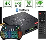 Pendoo X6 PRO Android TV Box 4GB RAM 32GB ROM with Backlit Mini Wireless Keyboard with Touchpad, Dual-WiFi 2.4GHz/5GHz Bluetooth Quad Core 64 Bits