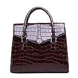OPmeA Ms. Handbag Noble Goddess Diagonal Package Crocodile Texture Handbag (Colore : Marrone Scuro)