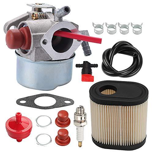 ATVATP 640350 Carburetor for Tecumseh 640271 Carburetor 640303 640338 640274 13566 LV195EA LV195XA LEV120 LEV100 LEV105 LEV120 Lawn Mower Toro 20014 20016 20017 & 36905 Air Filter