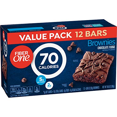 Fiber One Brownies, Chocolate Fudge Brownie, 70 Calorie Bar, 12 ct, 10.6 oz