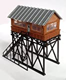 Outland Models Train Railway Layout Station Overhead Signal Box/Tower N Scale