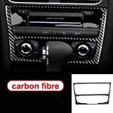 QQSGBD for Audi A4 B8 A5 Accessori in Fibra di Carbonio Interno di Automobile di Navigazione Climatizzatore Controllo CD Pannello con Guida A Sinistra con Guida A Destra Styling Adesivi