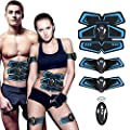 SHENGMI Muscle Toner, Abdominal Toning Belt Abs Trainer Body Fitness Belt Ab Workout Machine for Men & Women Arm & Leg Trainer