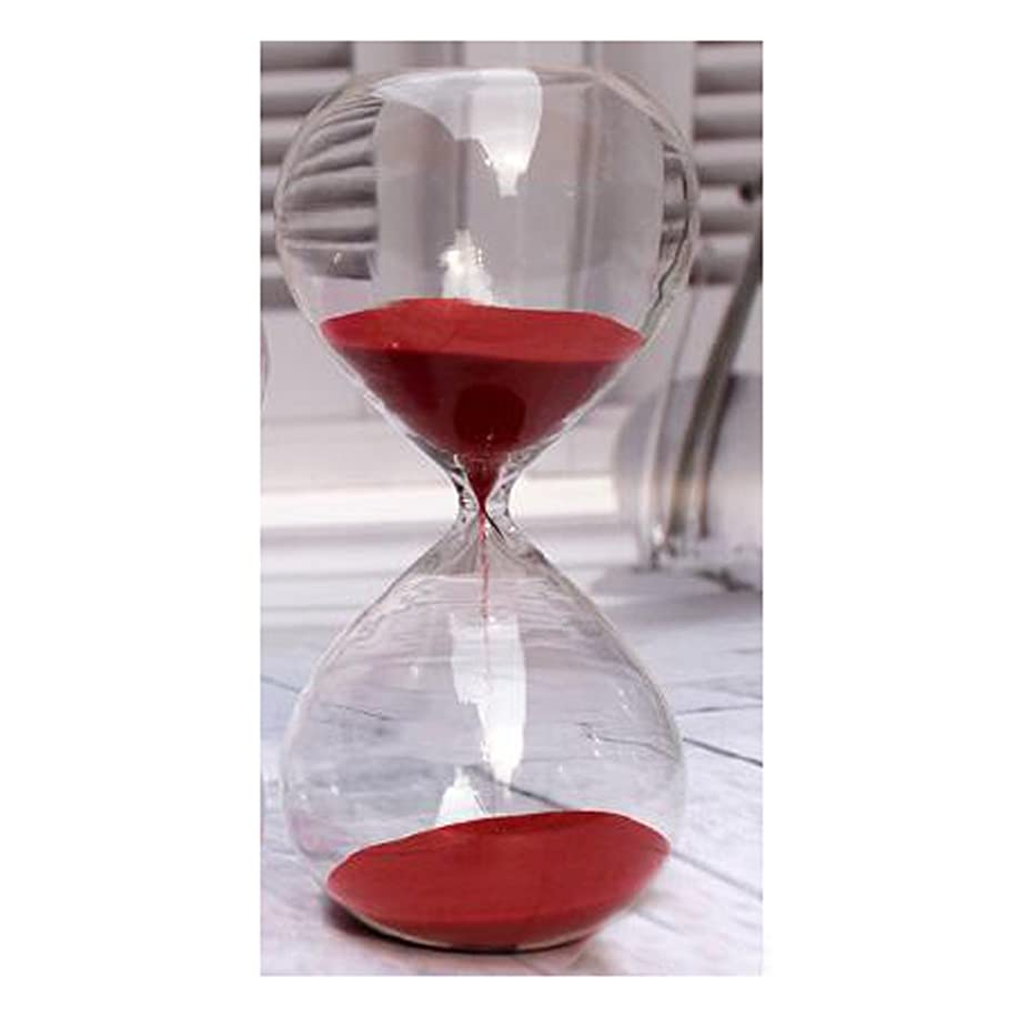Saymequeen Transparent Hourglass Colorful Sand Timer Hourglass Birthday Gift (60 Minutes, red)
