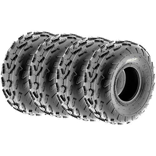 SunF 18x7-7 18x7x7 Tubeless 4 PR 18' ATV UTV Tires A007 [Set of 4]