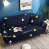 ASCV Funda de sofá elástica Funda de sofá Universal Suave Funda de sofá para decoración de Sala de Estar Funda de sofá Caliente Estilo decoración del hogar A7 4 plazas