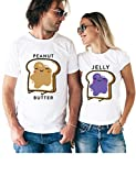 Peanut Butter & Jelly Matching Couple T Shirts - His and Hers Custom Shirts - Couples Outfits for Him and Her
