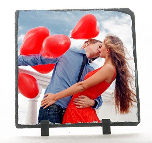 Piedra Pizarra 29x 29cm personalizado con fotos, texto, Logo