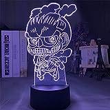 Anime 3D LED Night Lights Modelo Acción Cambio de color Fig