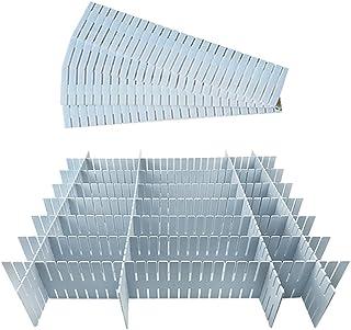 Séparateur tiroirs 12 Pièces, Réglable Grille Tiroir Diviseurs, Organisateur de Tiroir Réglable, Séparateur Placard en Pla...