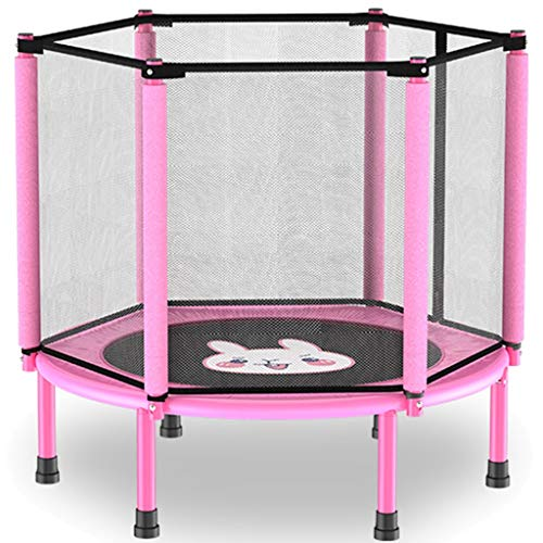 Trampoline Outdoor Garden Cartoon Trampoline, Children's Home Elastic Force Bed, Indoor Children Bouncing Opvouwbaar Springbed, Dragende: 120kg (Color : Pink A, Size : 101 * 22cm)