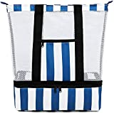 Beach Bag Pool Bag with Cooler Compartment Detachable Insulated Picnic Bag for Men & Women Travel...