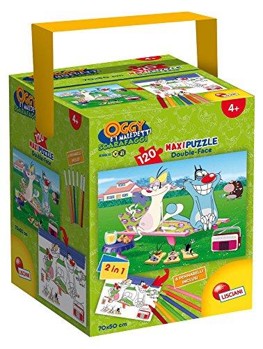 Lisciani Spiele 52905–Puzzle in a Tub Maxi Motiv Oggy und die Kakerlaken, 120Stück, Mehrfarbig