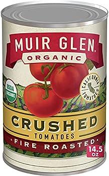 12-Pack Muir Glen Organic Crushed Fire Roasted Tomatoes, 14.5 oz