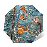 Paraguas de puerta de madera antigua compacto a prueba de vi