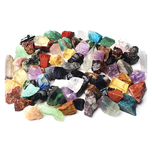YSDSPTG Rohsteine Mischung 200 g Lot Bulk natürlicher gemischter Stein Bunte Edelsteine kristall rauh roh mineralische felsen Sammlung heilung Stein dekor (Color : 200g)