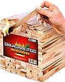 Kindling Wood fire Starter Sticks 300 pc - Kiln Dried Firewood - Fire Starter for Fireplace/Campfire/BBQ/Fire Pit/Wood Stoves - Natural Firestarters Better Than Fatwood, 7-8 lbs