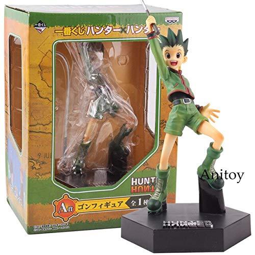 Romantic- Z Hunter X Hunter Figura Gon Freecss / Killua Zoldyck Gon Hunter PVC Anime Figura de colección Modelo de Juguete,  Gon Freecss con Caja