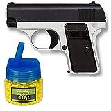 Tiendas LGP, Albainox 35502 Arma Airsoft, Pistola Aire Suave + Biberón 500 Bolas 12 Gramos de 6 mm. de Regalo