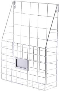 Fablcrew 1Pcs Porte-Journaux Mural,Porte-Revues Mural en Métal, Panier de Stockage de Livres,Magazines,Journaux pour Salon...