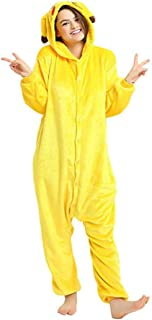 Pikachu Adult Onesie Pajamas Flannel Cosplay Costume Sleepwear