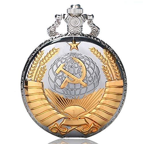 Golden Soviético - Reloj de bolsillo, regalo de estilo ruso, relojes de...