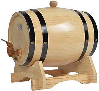 Tonneau de vin, Distributeur de fût de vin en bois de chêne de 5 litres Fût, fût de stockage de whisky Wine Spirit avec ro...
