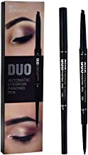 Double-headed ultra-fine eyebrow pencil, auto-rotating triangle eyebrow pencil, durable, waterproof, sweat-proof, five colors to choose from(03#Dark brown)