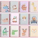Czemo Mini Block Notes Bambini Piccolo Taccuino Tascabile Guaderno Spirale Regalini Fine Festa Bambini, Confezione da 12 (#3)