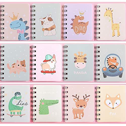 Czemo Libreta Pequeña de Bolsillo Cuaderno Pequeño Regalos Cumpleaños Niños Colegio, Pack de 12 (#3)