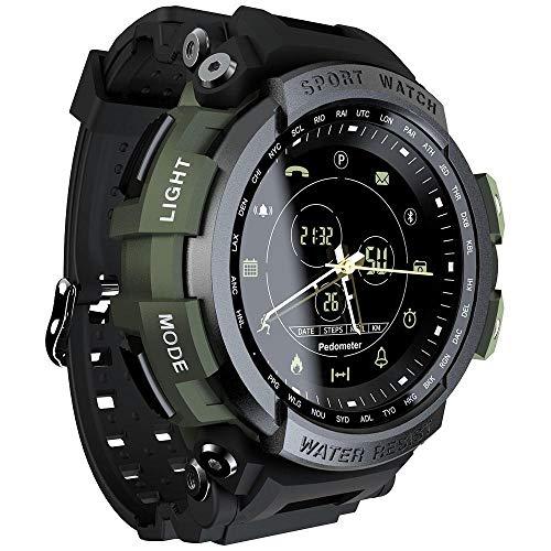 LOKMAT MK28 Waterproof Smart Watch Remote Camera Stopwatch Goal Management Fitness Sports Bracelet Green