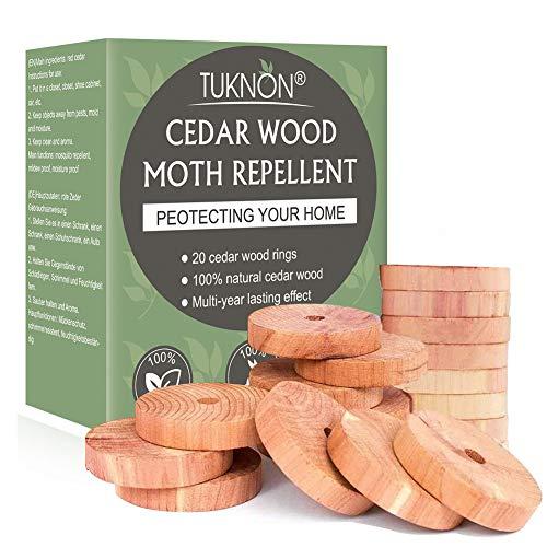 Zedernholz Mottenschutz, Mottenschutz, Mottenschutz für Kleiderschrank, Cedar Moth Repellent, 100% Natürliche Mottenabwehr, Mottenschutzmittel für Schränke, Kleidung, Feuchtigkeitsschutz, 20 Stück