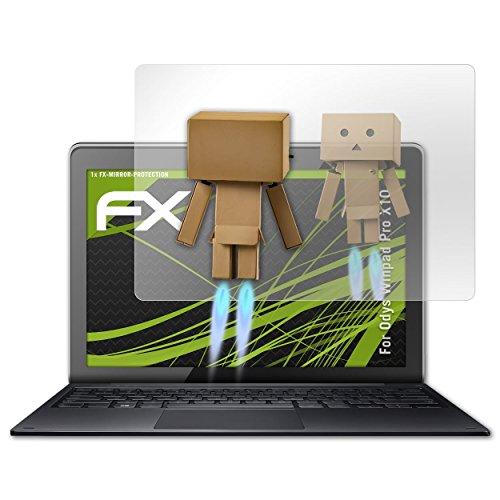 atFolix Bildschirmfolie kompatibel mit Odys Winpad Pro X10 Spiegelfolie, Spiegeleffekt FX Schutzfolie