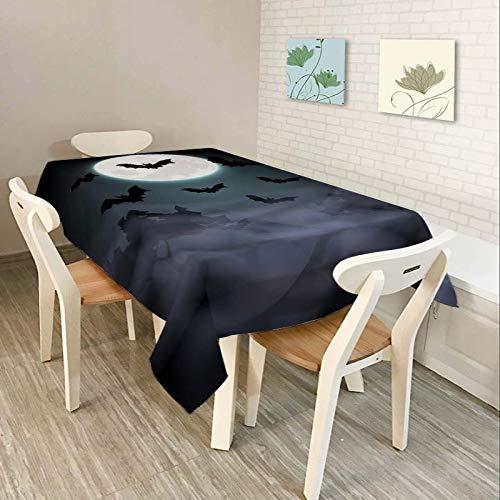 DJUX Impermeable-Serie de Halloween-Mantel-Mantel artístico-Salón-Comedor-Hotel 150x210cm