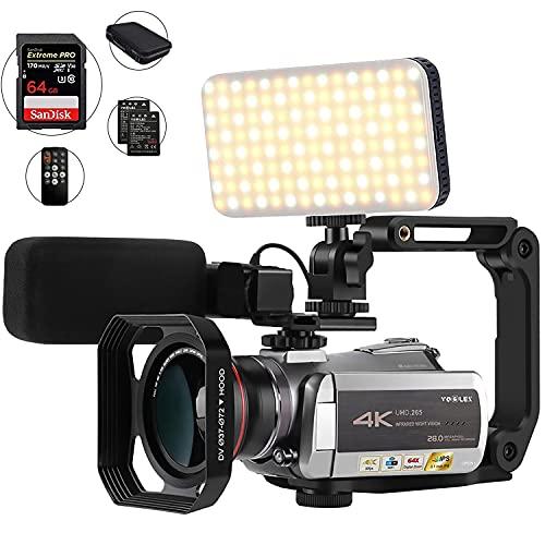 4K Camcorder with 64X Digital Zo...