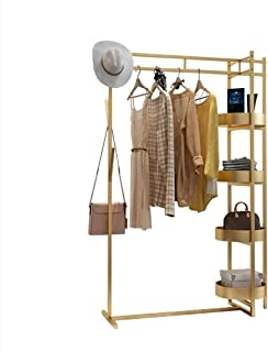 sans marque JIE- Style Nordique Porte-vêtements Vêtements Rail Métal Vêtements Suspendus Rail Chapeau Cintre Debout Porte-...