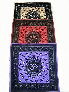 4Rissa Om Aum Symbol Yoga Meditation Asana Pilates Thin Cushioned Cushion Comfy Cotton Fitness Mat
