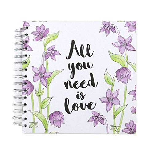 """Simply Creative Scrapbook Craft Memory Photo Album - All You Need is Love (8x8"""")"""